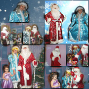 Дед Мороз и Снегурочка на Новый Год.